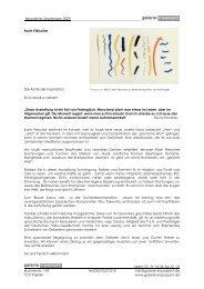 Newsletter Karin Fleischer 04.09. - 11.10.2009 (pdf) - Galerie en ...