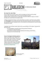 im Römischen Reich Ein Gott für alle Fälle - Educanet