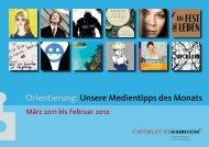 Orientierung: Unsere Medientipps des Monats - Stadt Mannheim