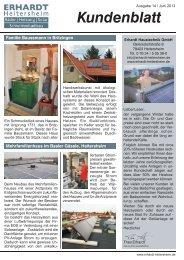Kundenblatt Mai 2013 (pdf) - Erhardt GmbH