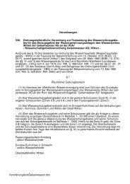 Verordnungstext WSG Gelsenwasser - Ennepe-Ruhr-Kreis