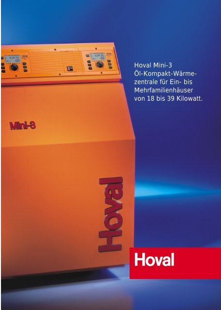 Hoval Mini-3 Öl-Kompakt-Wärme- zentrale für Ein- bis ...