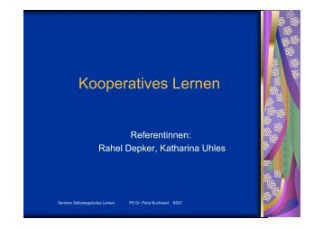 Kooperatives Lernen - Petra-buchwald.de