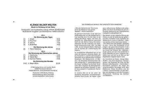 KLÄNGE BILDER WELTEN - Planetware Records