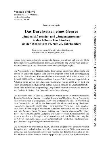 Das Durchsetzen eines Genres - Collegium Carolinum