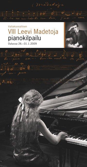 Käsiohjelma - Valtakunnallinen IX Leevi Madetoja pianokilpailu ...