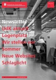Newsletter Juli 2013 - Universität der Künste Berlin