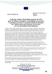 Catherine Ashton, Haute Représentante de l'UE pour les ... - Europa
