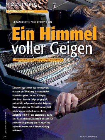 Geigen richtig abmikrofonieren - MUSIC STORE professional
