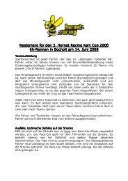 Reglement für den Reglement für den 3. Hornet Racing Kart Cup ...