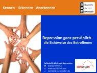 Depression ganz persönlich - Selbsthilfegruppe SAD Dresden