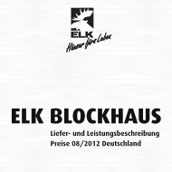 Liefer- und Leistungsbeschreibung Preise 08/2012 ... - ELK-Fertighaus