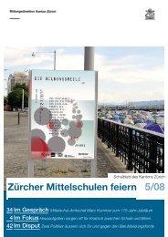 Zürcher Mittelschulen feiern - Bildungsdirektion - Kanton Zürich