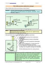 FOS: Kräfte zwischen elektrischen Ladungen