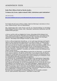 Bodo Platt, Offener Brief an Martin Jander - Gedenkbibliothek