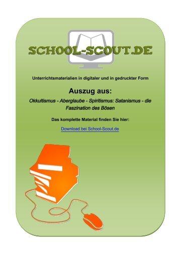 Okkultismus - Aberglaube - Spiritismus: Satanismus ... - School-Scout