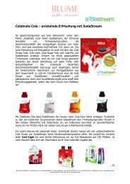 Celebrate Cola – prickelnde Erfrischung mit SodaStream - Blume PR