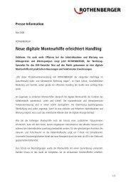 Neue digitale Monteurhilfe erleichtert Handling - Rothenberger