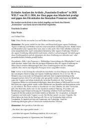 """Kritische Analyse des Artikels """"Fanatische Ernährer ... - TVG Pulheim"""