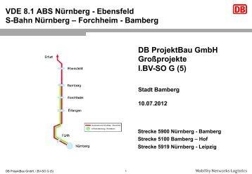 VDE 8.1.1 Ausbaustrecke Nürnberg