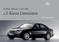 Preisliste Mercedes-Benz E-Klasse Limousine (W211) vom 04.04.2008.