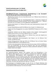 Zwischenmitteilung gem. § 37 WpHG ... - Ehlebracht AG