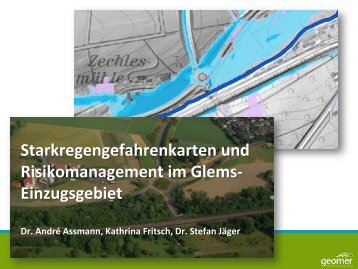 Starkregengefahrenkarten im Glems-Einzugsgebiet als Beispiel für ...
