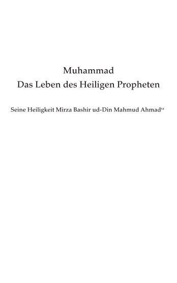Das Leben des Heiligen Propheten - Ahmadiyya Muslim Jamaat ...