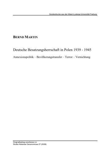 Deutsche Besatzungsherrschaft in Polen 1939 - 1945