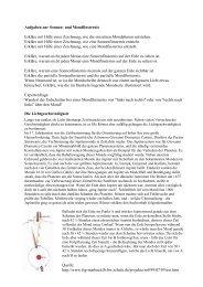 Aufgaben zu Mond- und Sonnenfinsternis, Lichtgeschwindigkeit