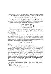 Ueber eine algebraische Aufgabe bei der Reduktion von ... - DWC