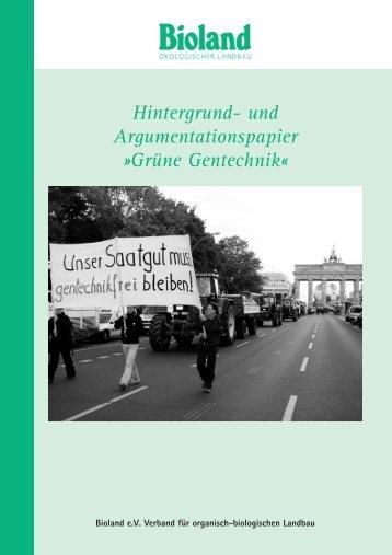Hintergrund- und Argumentationspapier »Grüne Gentechnik - APIS eV