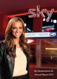 Sky Deutschland AG Annual Report 2011