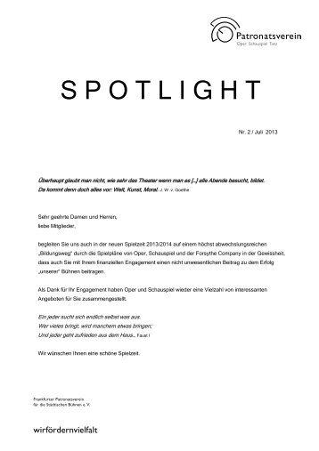 Spotlight Ausgabe 2/2013 - Patronatsverein.de