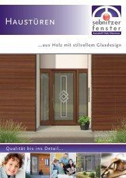 Haustüren - Sebnitzer Fensterbau
