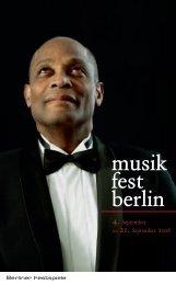 Programm musikfest berlin 08 - Berliner Festspiele