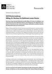 presse-kustos - Stift Klosterneuburg