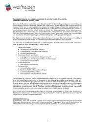 Ergebnisse Externe Evaluation 11-12 - Gemeinde Wolfhalden
