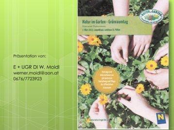 E + UGR DI W. Moidl - Natur im Garten