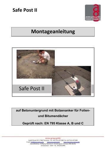 Montageanleitung Safe Post II - access group gmbh