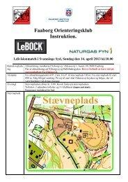 Faaborg Orienteringsklub Instruktion. - Faaborg OK