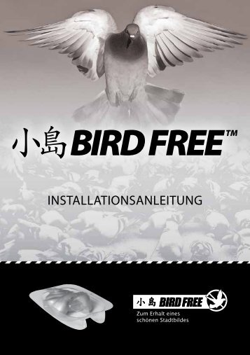 INSTALLATIONSANLEITUNG - Bird Free
