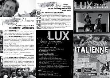 Affiche Italienne 2009 - Cinéma LUX