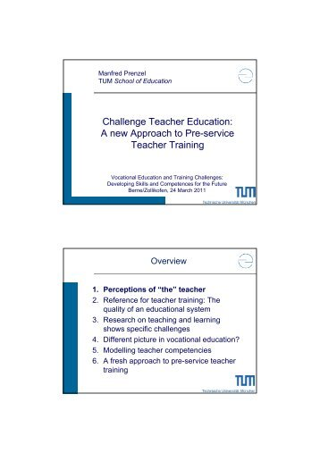 Challenge Teacher Education: A new Approach to Pre ... - EHB