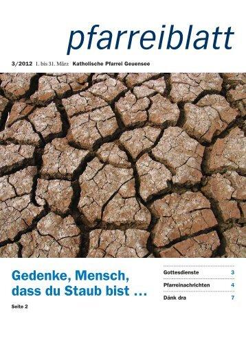 März 2012 - Pfarrei Geuensee