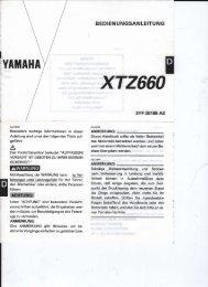 XTZ 660 Bedienungsanleitung