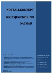 NOTFALLKONZEPT KREISJUGENDRING DACHAU