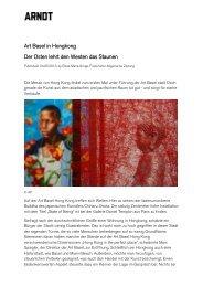 Art Basel in Hongkong Der Osten lehrt den Westen das ... - Arndt