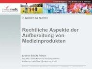 Rechtliche Aspekte der Aufbereitung von ... - ig-nopps.ch