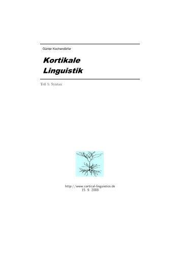.RUWLNDOH /LQJXLVWLN - cortical linguistics